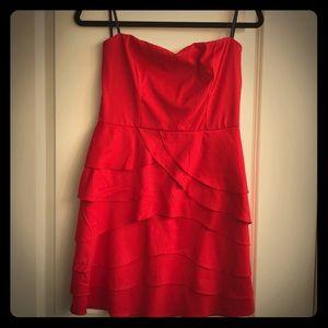 Gianni Bono Red Strapless Dress 9